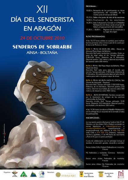 XII DÍA DEL SENDERISTA DE ARAGÓN. 24 DE OCTUBRE. DOMINGO