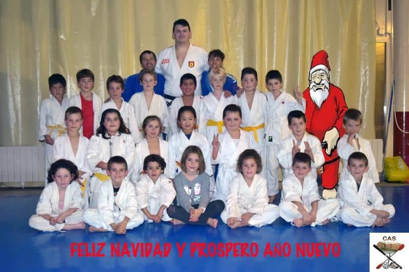 Felicitación de Navidad de la Escuela de Judo del CAS con la visita de Irinel Chelaru