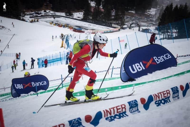 Claudia Valero participó en los Campeonatos del Mundo de Esquí de Montaña con buen resultado. Febrero 2017 en Italia.