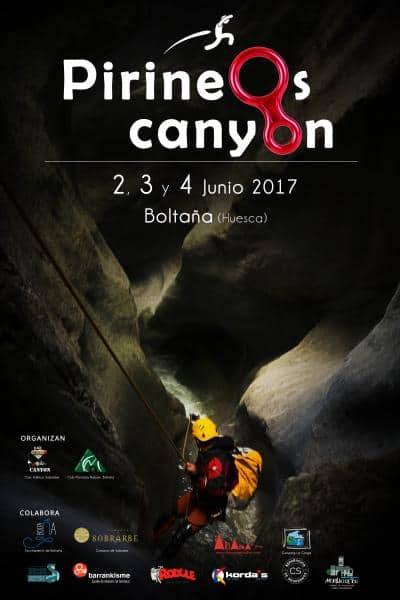 """APERTURA INSCRIPCIONES PARA EL 1º ENCUENTRO BARRANQUISTA """"PIRINEOS CANYON"""". 2,3 y 4 de Junio 2017"""