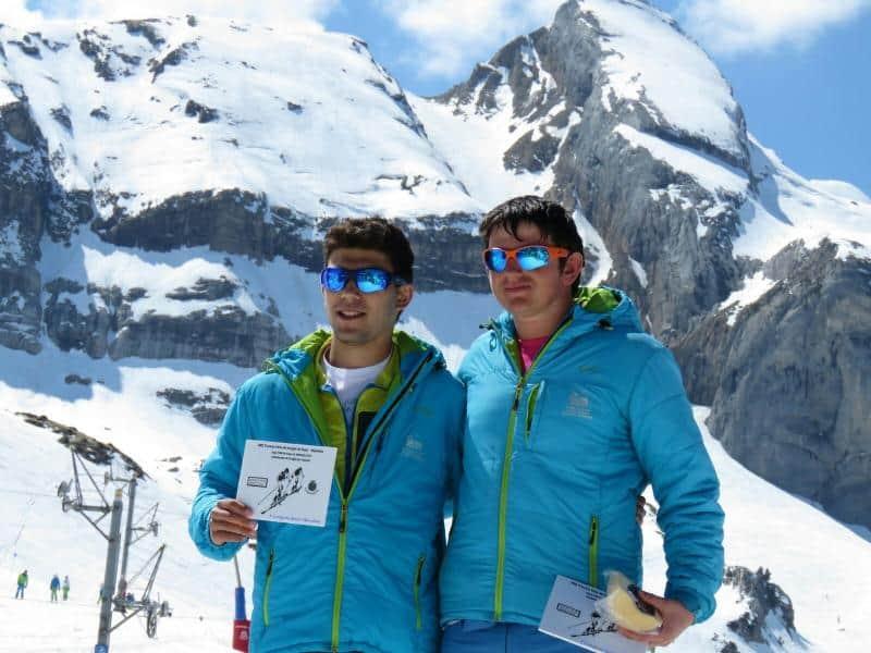 Fernando Manzano y Claudia Valero, del CAS, campeones de Aragón Junior de Esquí de Montaña en Candanchú.