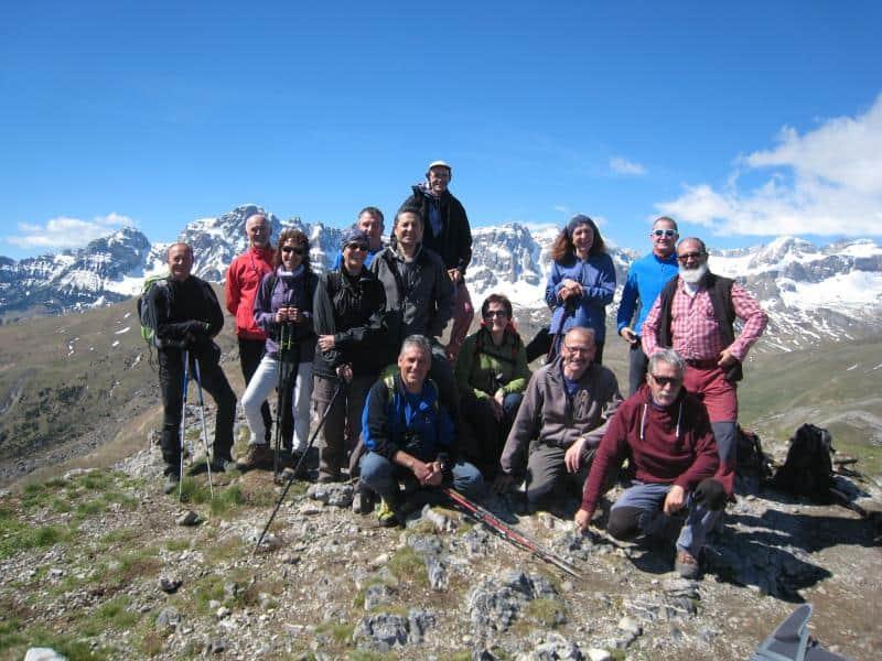 Coronando el pico de la Punta del Pazino (1.965 m.)