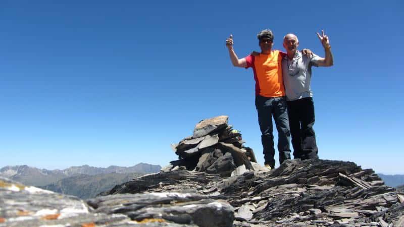 Cima en el pico sin nombre - Enrique y yo