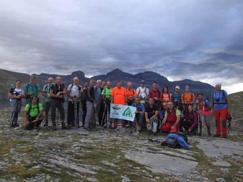 Aún con mucha nubosidad y neblina, ascendimos al pico Marboré. Sábado 5 de Agosto.