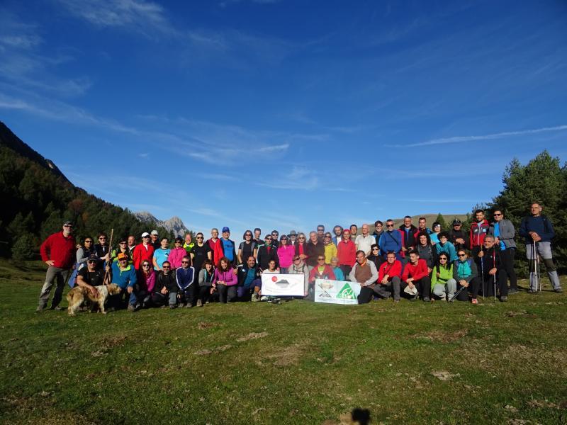 Estupenda travesía y jornada de confraternización entre el CER de Graus, NABAÍN y CAS. Domingo 22 de octubre