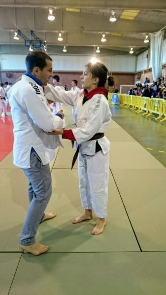 Lara Pavalachi, en categoría cadete menos de 44 kilos