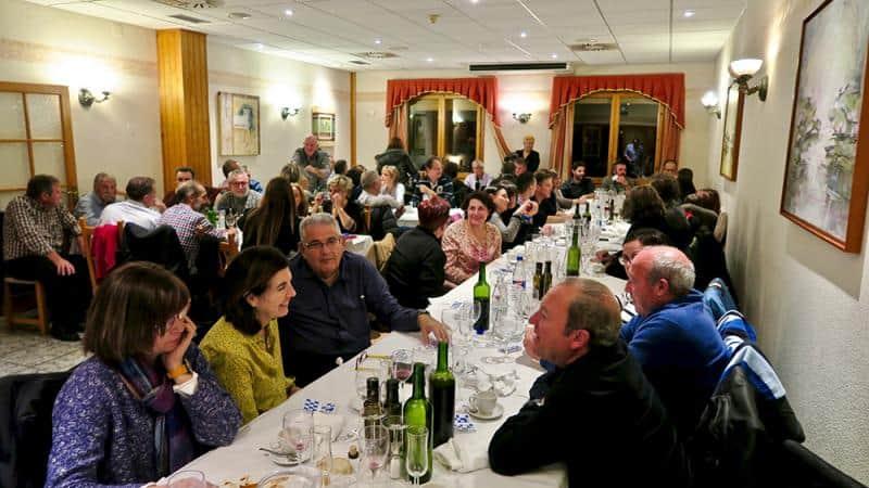 Cena conjunta en el Hotel Turmo de Labuerda