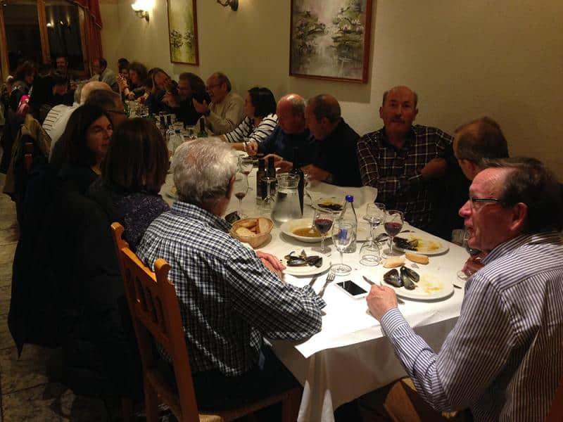 Cena en el hotel Turmo