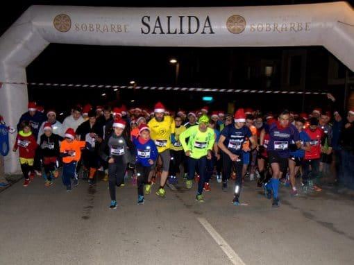 Gran ambiente y participación en la 5ª San Silvestre Sobrarbense Solidaria. 31 de Diciembre. Boltaña