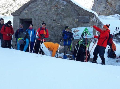 Hemos estado en el circo de Barrosa con raquetas de nieve en la primera salida temporada. Sábado 27 Enero