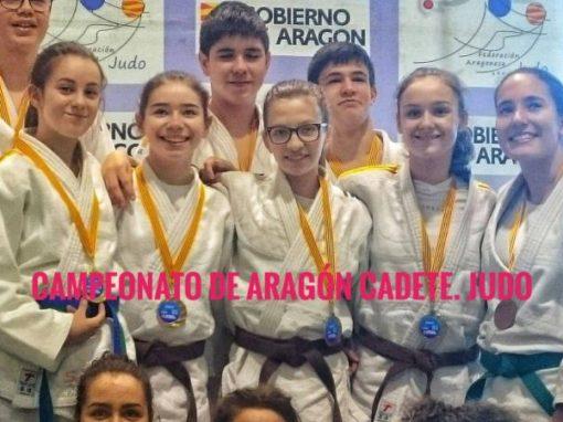 Medalla y buenos resultados del JUDO CAS en el Cº de Aragón, categoría cadetes. Domingo 25 de Febrero