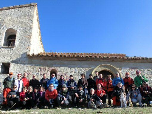 Efectuada la Vuelta Circular al Pico del Águila desde la presa de Arguis. Sábado 24 de Febrero