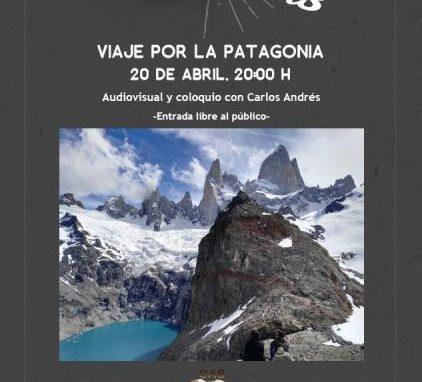 """Proyección próximo viernes 20 abril en el local del CAS de """"VIAJE POR LA PATAGONIA"""", por Carlos Andrés"""