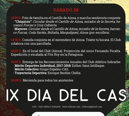 IX DÍA del CAS. Próximo sábado 26 de Mayo. Programa