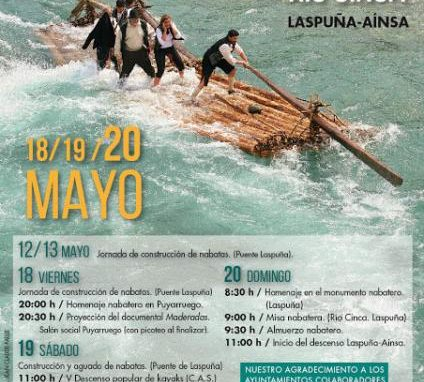 VI Descenso popular del tramo nabatero del río Cinca. Sábado 19 de Mayo