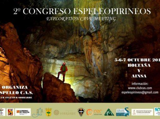 II Congreso Espeleopirineos. Primer finde Octubre 2018, días 5, 6 y 7. Boltaña y Aínsa