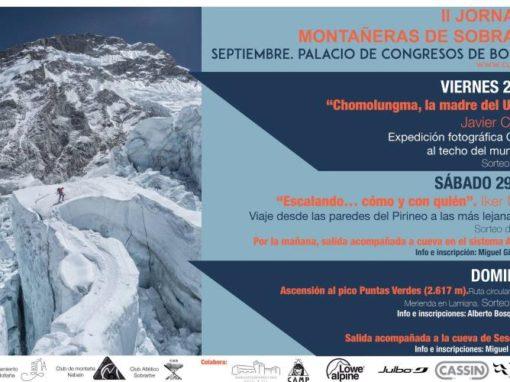 2ªs Jornadas Montañeras de Sobrarbe. Finde del 28, 29 y 30 de Septiembre
