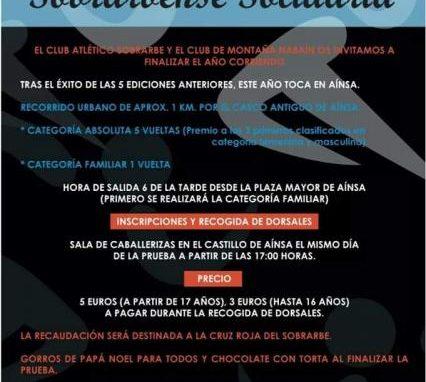 Muy cercana ya la 6ª San Silvestre Sobrarbense Solidaria. Aínsa, 31 de Diciembre, 18 horas.