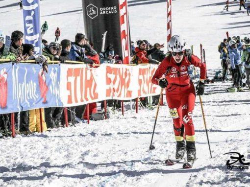 Claudia Valero en la Copa del Mundo de Esquí de Montaña. Andorra, 26 y 27 de Enero.