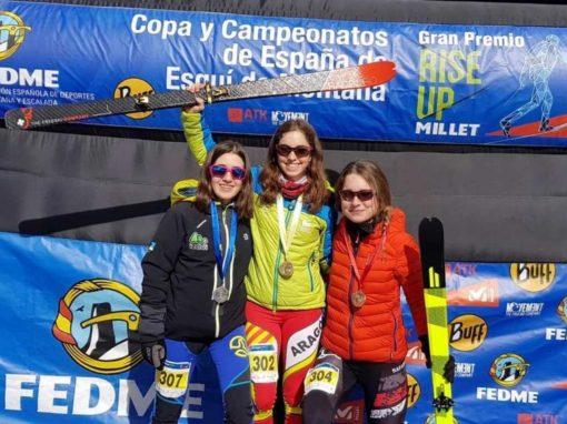 Claudia Valero, Campeona de España Junior de Esquí de Montaña en Individual, Sprint y Cronoescalada. Boí Taull, 9 y 10 Febrero