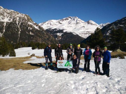 Realizada la 2ª salida con raquetas de este invierno. Sábado 16 de Febrero. Plans de l´Abet (Val de Chistau)