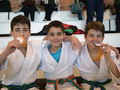 Se celebró la 1ª Fase del Cº Escolar Infantil de Judo. Domingo 17 de Febrero en Monzalbarba (Zaragoza)