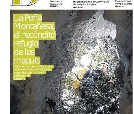 Maquis, la Peña Montañesa y la sección de espeleo del C.A.S. en el Diario del Alto Aragón