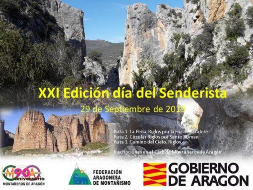XXI Día del Senderista de Aragón en Riglos