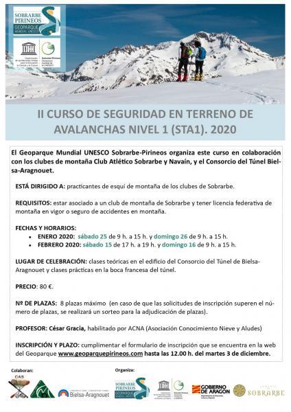 II Curso de seguridad en terreno de avalanchas Nivel 1 (STA1). 2020