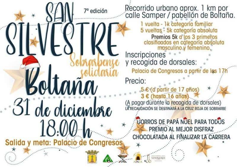 Nueva edición de la SAN SILVESTRE SOBRARBENSE SOLIDARIA. 31 de Diciembre. Boltaña