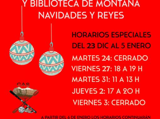 Nuevos horarios de apertura del CAS en navidades: del 23 de diciembre al 5 de enero