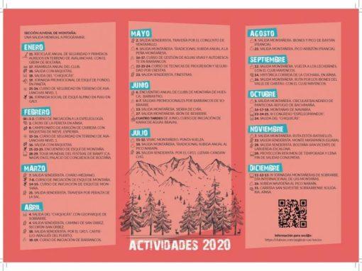 Os presentamos el nuevo programa de actividades para 2020