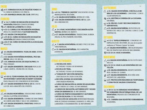 Programa del CAS 2021
