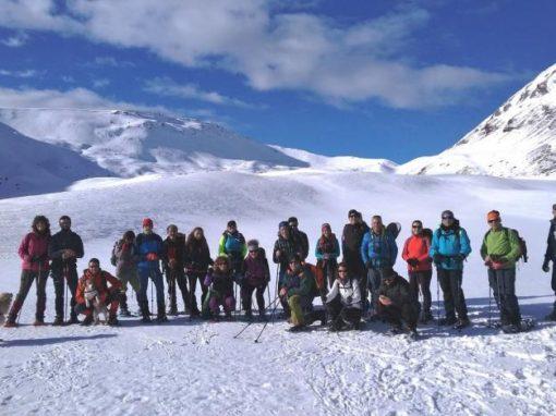 Realizada la primera salida del año 2020. Ruta montañera con raquetas de nieve.