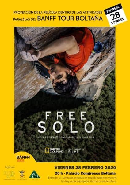 """Este viernes estrenamos el Banff Boltaña 2020 con la proyección de """"Free Solo""""."""