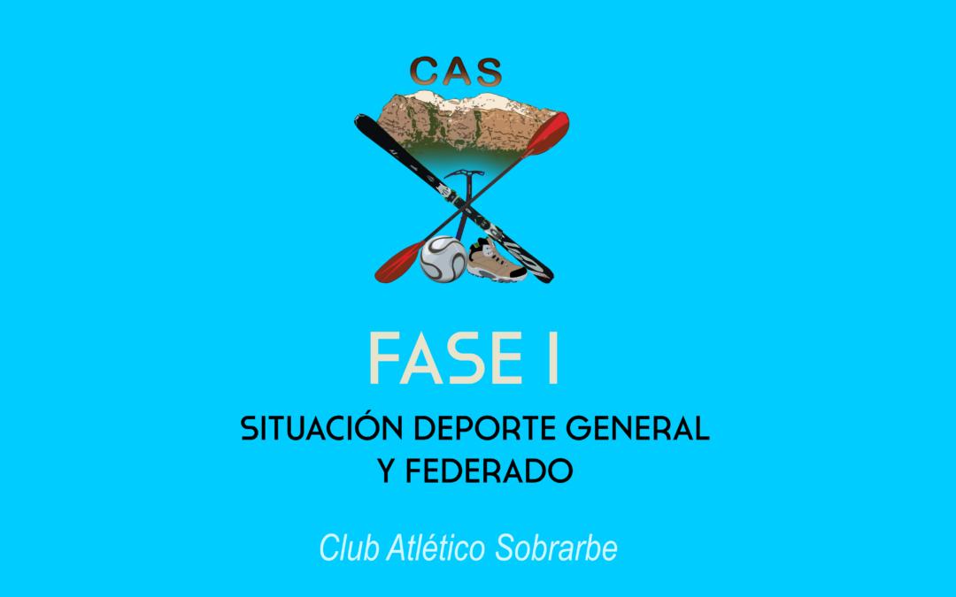 Comunicado Fase I: Deporte de la población general y deporte federado