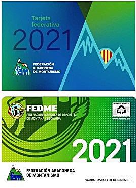Tarjeta federativa FAM y FEDME 2021