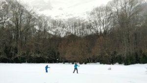 Realizada la jornada de promoción de esquí de fondo en el Espacio Nórdico de PINETA. Domingo, 17 de enero de 2021
