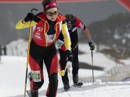 CLAUDIA VALERO en el Campeonato del Mundo de esquí de montaña. ANDORRA 2021.