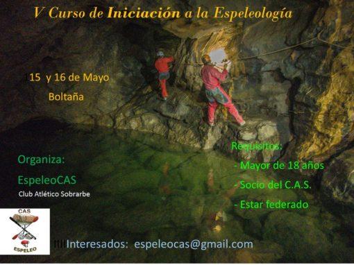 V CURSILLO DE INICIACIÓN A LA ESPELEOLOGÍA