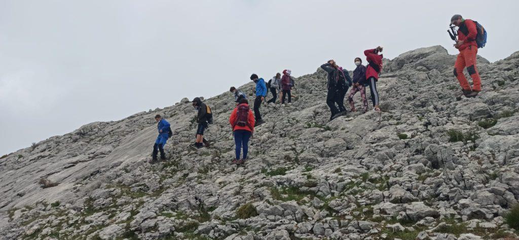 Salida montañera con la sección Juvenil a CASTILLO MAYOR. 2014 M
