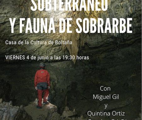 Charla patrimonio subterráneo y fauna del Sobrarbe. Viernes 4 de junio a las 19:30h.