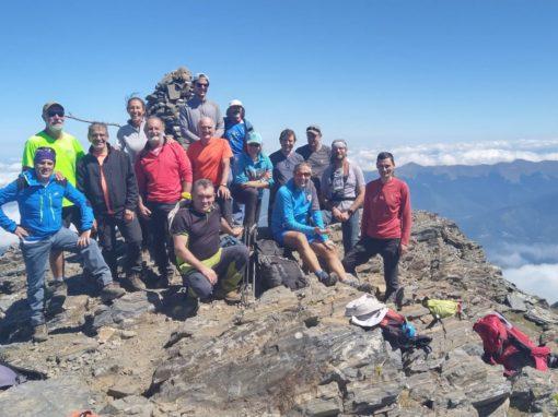 Realizada la salida senderista al Pico Arbizon el sábado 28 de agosto de 2021