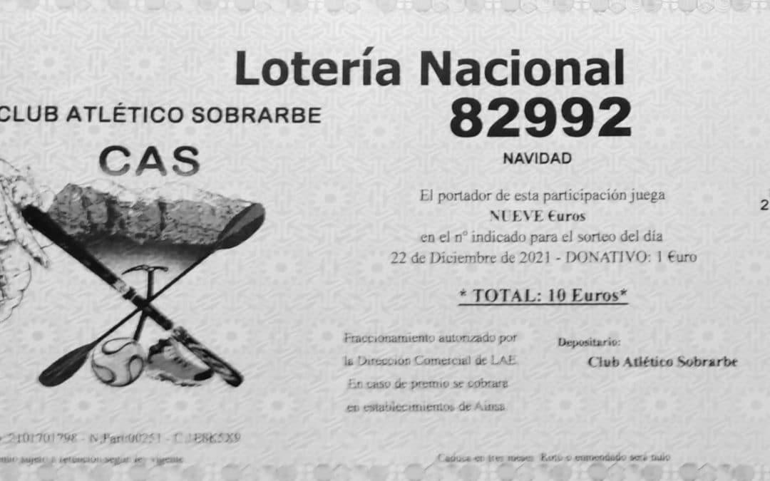 Lotería de Navidad del Club, 2021.Ya a la venta.NÚMERO 82992.!!SUERTE A TOD@S!!